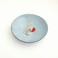 Light Grey Enamel Bowl