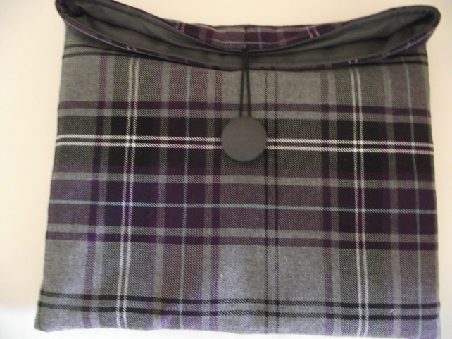 Grey Tartan iPad Sleeve