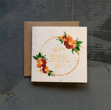 Square Happy Mothers Day Seed Card