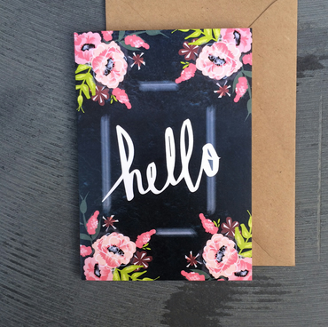 Hello, greetings card