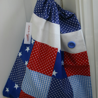 Patchwork Pump, PE Bag - Ideal for school or nursery