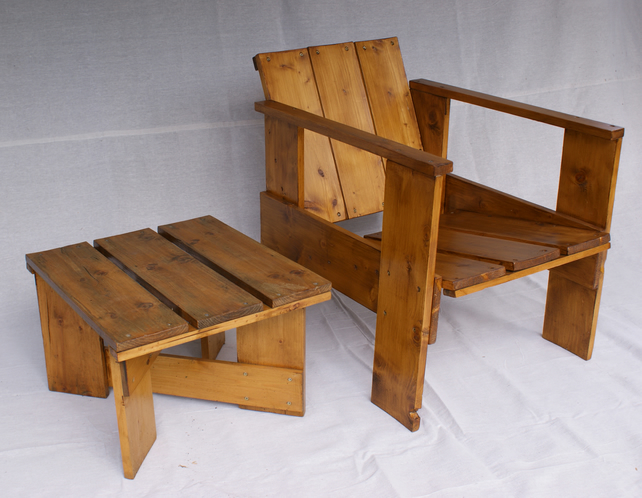 Strange Vintage 1930S Style Crate Chair Perfect For The Garden Download Free Architecture Designs Scobabritishbridgeorg