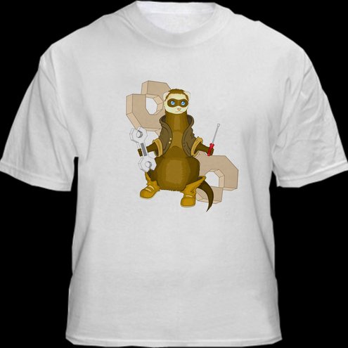 T-shirt, ferret design