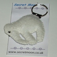 Elephant White Felt Key ring-Bag Charm