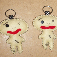 Zombie Felt Key Ring-Bag Charm