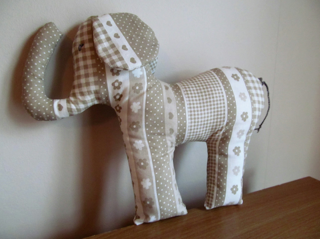Fawn Padded Elephant