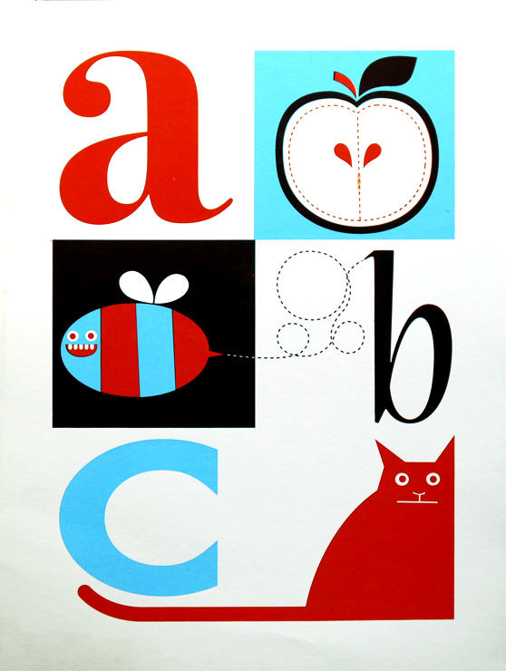 Limited edition screenprint: ABC