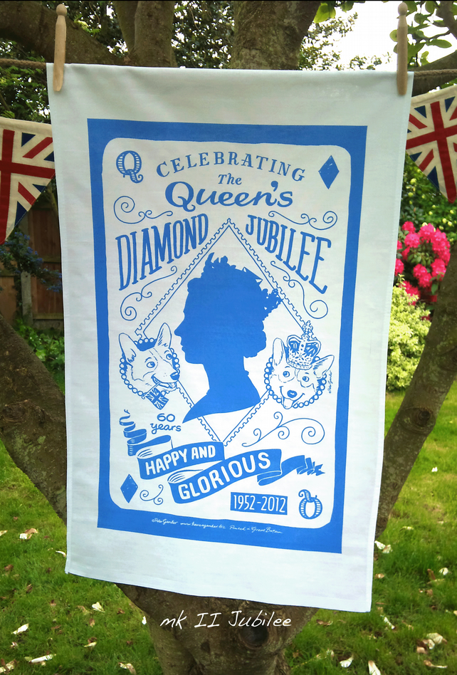 Queen's Diamond Jubilee commemorative tea towel mkII