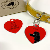 Poodle Collar Name Tag