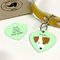 Jack Russell Collar Name Tag
