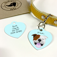 Staffordshire bullterrier Collar Name Tag
