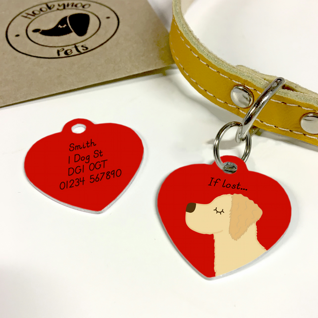 Golden Retriever Collar Name Tag