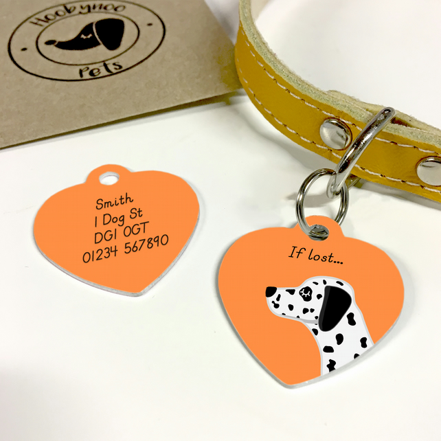 Dalmatian Collar Name Tag