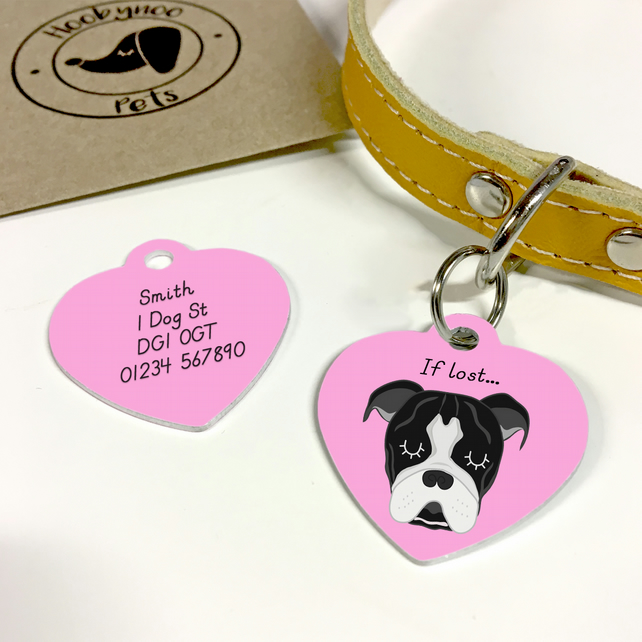 Old Thyme Bulldog Collar Name Tag