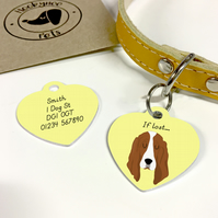 Basset Hound Collar Name Tag