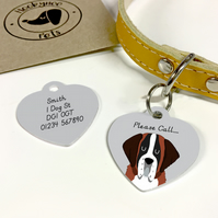 St Bernard Collar Name Tag