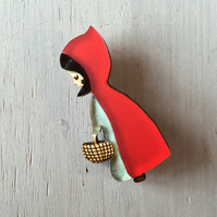 Red Riding Hood Acrylic Brooch