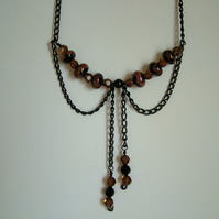 DOWNTON ABBEY NECKLACE - LAMPWORK NECKLACE - FREE UK POSTAGE