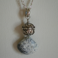 DENDRITE OPAL PENDANT - - FREE SHIPPING WORLWIDE