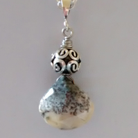 DENDRITE OPAL PENDANT - DENDRITE NECKLACE - FREE SHIPPING WORLWIDE