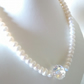 PEARL  AND  SWAROVSKI  NECKLACE - - FREE SHIPPING WORLDEWIDE