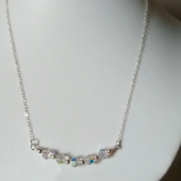 SWAROVSKI CRYSTAL NECKLACE - BRIDE- WEDDING- FREE SHIPPING WOPRLDWIDE