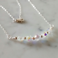 SWAROVSKI CRYSTAL NECKLACE - BRIDE- WEDDING- FREE UK SHIPPING