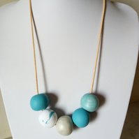POLYMER CLAY CHUNKY NECKLACE - HOLIDAY JEWELLERY -  FREE SHIPPING WORLDWIDE