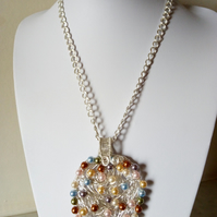SWAROVSKI PEARL NEST NECKLACE - STATEMENT NECKLACE - - - FREE SHIPPING WORLDWIDE