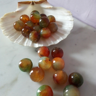AGATE FACETED GEMSTONES - 16MM - -