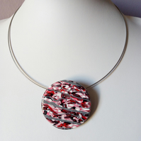 ROCKY ROAD POLYMER CLAY NECKLACE - FREE SHIPPING WORLDWIDE