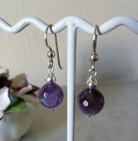AMETHYST DANGLE EARRINGS - FREE SHIPPING