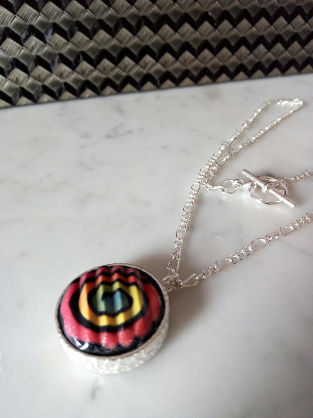 POLYMER CLAY NECKLACE -PENDANT - FREE SHIPPING