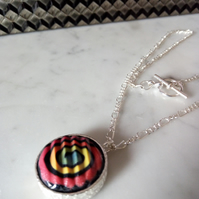 POLYMER CLAY NECKLACE -PENDANT - FREE SHIPPING WORLDWIDE