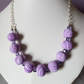 POLYMER CLAY NECKLACE - SWAROVSKI - FREE SHIPPING WORLDWIDE