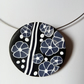 POLYMER CLAY NECKLACE -PENDANT - CHOKER -  FREE SHIPPING