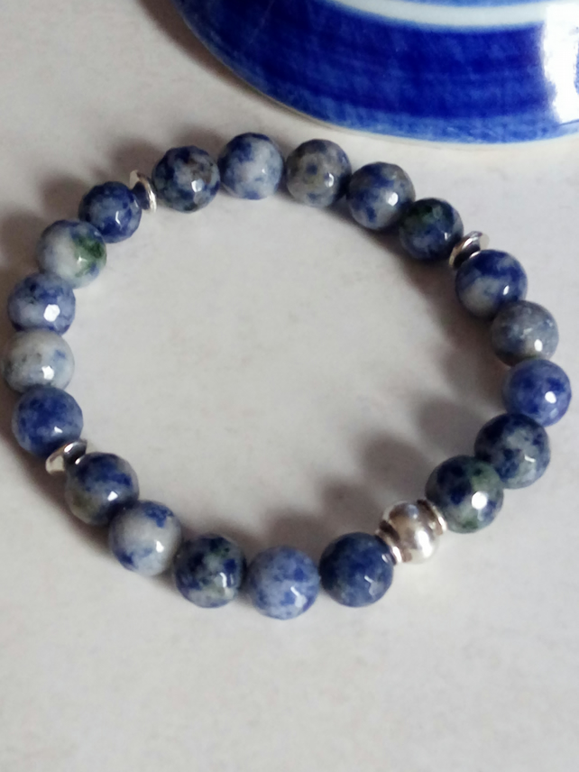 SODALITE STRETCHY BRACELET - FREE UK SHIPPING
