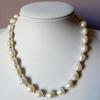 CULTURED NUGGET PEARL NECKLACE - PEARL NECKLACE - STATEMENT NECKLACE FREE UK POS