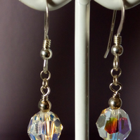 SWAROVSKI CRYSTAL EARRINGS - - FREE UK SHIPPING