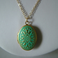 VERDIGRIS PATINA BRASS LOCKET - - FREE SHIPPING WORLWIDE