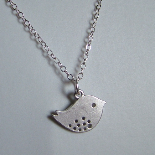 LITTLE SPARROW  NECKLACE  - BIRD NECKLACE  - FREE SHIPPING
