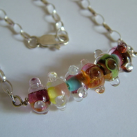 SALE - -RAINBOW PETITE NECKLACE - FREE UK  SHIPPING
