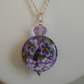 PANSY LAMPWORK NECKLACE - - FREE SHIPPING WORLDWIDE