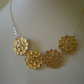 GOLDEN BUBBLE GOLD NECKLACE - - FREE SHIPPING WORLDWIDE
