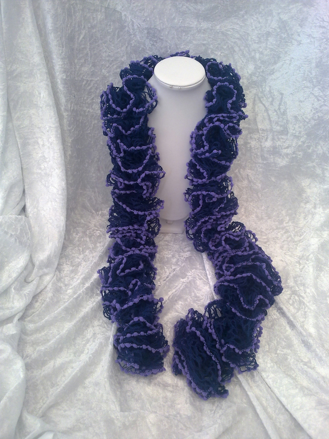 Free Knitting Pattern For Spiral Scarves : SALE - Hand knitted spiral - ruffle scarf - 20%... - Folksy