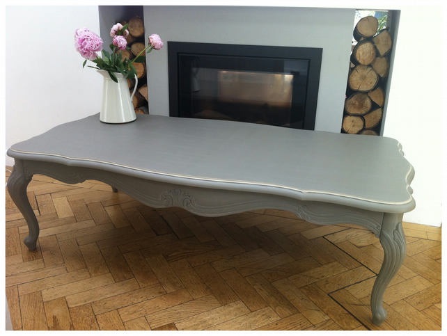 Painted French Grey Coffee Table Folksy