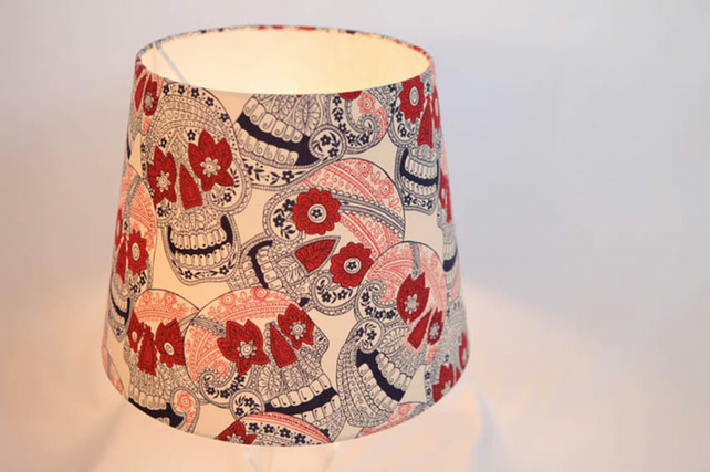 Lamp shade mexican skulls ceiling or standing folksy lamp shade mexican skulls ceiling or standing lamp aloadofball Image collections