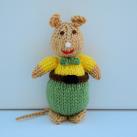 Knitted Gentleman Mouse Doll - Knitting Pattern - PDF E-Mail