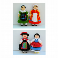 Folk Doll Knitting Patterns - ZIP, PDFs E-Mail