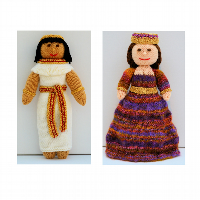 Egyptian & Byzantium Dolls Knitting Patterns - ZIP, PDFs E-Mail